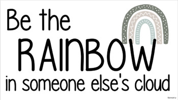 BOHO RAINBOW: Be the RAINBOW in someone else's cloud display