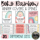 BOHO RAINBOW Binder Covers and Spines