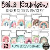 BOHO RAINBOW Binder Section Dividers
