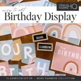 Modern BOHO RAINBOW Birthday Display Pack