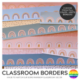 Modern BOHO RAINBOW Classroom Borders Pack