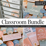 Modern BOHO RAINBOW Classroom Decor - BUNDLE