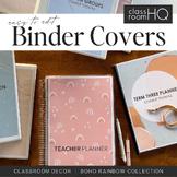 Modern BOHO RAINBOW Binders + Book Covers Pack
