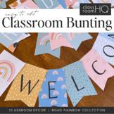 Modern BOHO RAINBOW Editable Bunting Pack