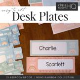 Modern BOHO RAINBOW Editable Desk Plates