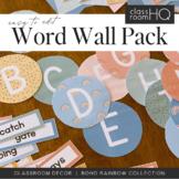Modern BOHO RAINBOW Word Wall Pack