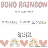 BOHO RAINBOW Flip Calendar | Calendar Time | Morning Meeting