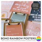 Modern BOHO RAINBOW Inspirational Growth Mindset Posters