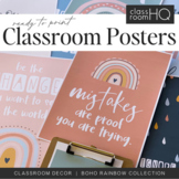 Modern BOHO RAINBOW Inspirational Growth Mindset Posters
