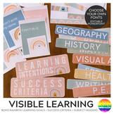 Modern BOHO RAINBOW Visible Learning Pack
