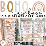 BOHO Rainbow 10 Drawer Cart Labels