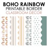 BOHO Rainbow Classroom Printable Border - Beginning of the