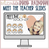 BOHO Rainbow - Digital Meet The Teacher - Google Slides
