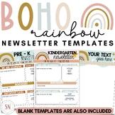 Boho Rainbow Newsletter Templates