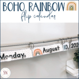 Boho Rainbow Flip Calendar