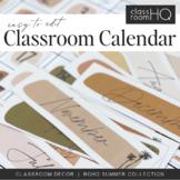 BOHO SUMMER Classroom Calendar