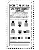 BOLETOS DE SALIDA - Las preposiciones de lugar