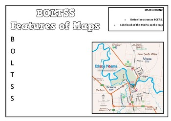 BOLTSS Labelling/Note Taking Task - Features of Maps