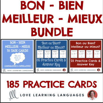 BON - BIEN - MEILLEUR - MIEUX:  Bundle of 100 practice cards