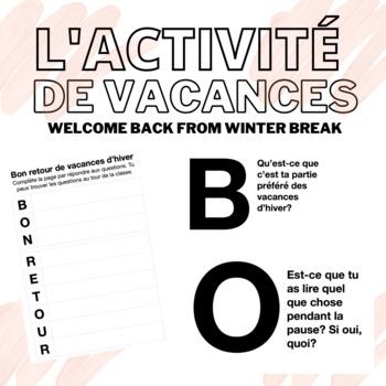 BON RETOUR DES VACANCES D'HIVER | Welcome back from winter holidays