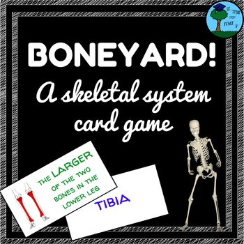 BONEYARD Skeletal System Memory Card Game (Anatomy, Life Science)