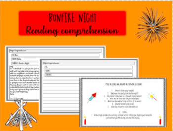 BONFIRE NIGHT - Reading Comprehension - GUY FAWKES