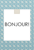 BONJOUR French Poster