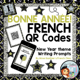 FRENCH NEW YEAR QR CODE WRITING PROMPTS - BONNE ANNÉE!