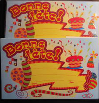 BONNE FETE happy birthday cards postcards 67 new greetings (shipping included)
