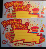 BONNE FETE happy birthday cards postcards 67 new greetings Shipping Included