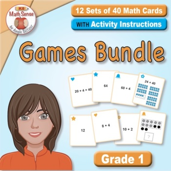 Grade 1 Multi-Match Math Games for Common Core: BONUS BUNDLE