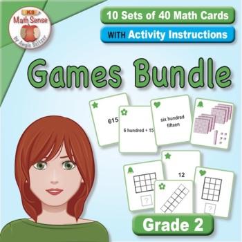 Grade 2 Multi-Match Math Games for Common Core: BONUS BUNDLE