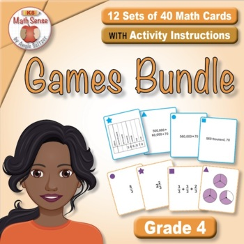 Grade 4 Multi-Match Math Games for Common Core: BONUS BUNDLE