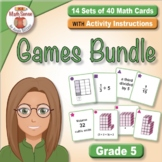 Grade 5 Math Sense Games & Activities Bundle for SPED - Su