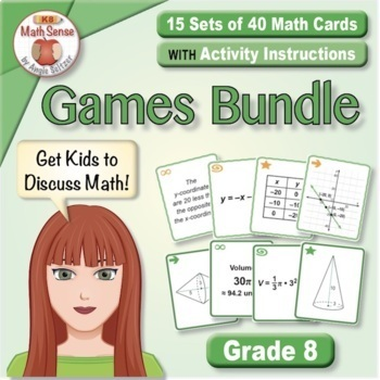 Grade 8 Multi-Match Math Games for Common Core: BONUS BUNDLE