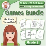 Grade 8 Math Sense Games & Activities Bundle for SPED - Subs - Intervention