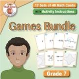 Grade 7 Multi-Match Math Games for Common Core: BONUS BUNDLE