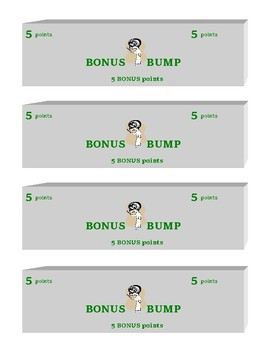 BONUS POINT COUPONS 5 and 10 points (4 per page)