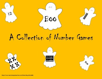 BOO - A Collection of  5 Early Math Games (numbers 1-20)