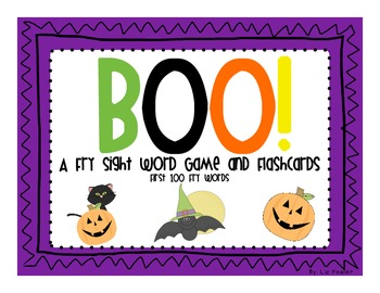 BOO!  A Fry Sight Word Game