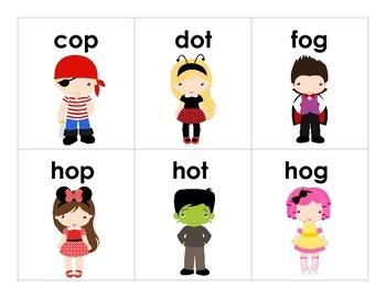 BOO!  A Halloween CVC Word Game