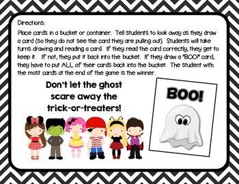BOO! A Halloween CVCe Word Game
