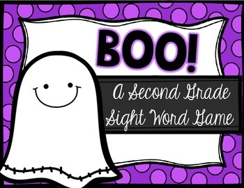 BOO! A Halloween Second Grade Sight Word Game