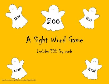 BOO - A Sight Word Game 300 Fry words