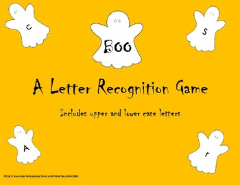 BOO - A letter / letter sound recognition game