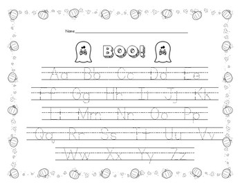 ABC Letter Game-BOO!