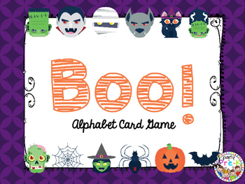 BOO! Alphabet Card Game-Halloween Monsters