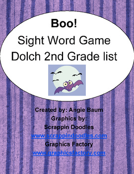 BOO! Dolch Sight Word Game - 2nd Grade List