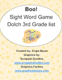 BOO! Dolch Sight Word Game - 3rd Grade List