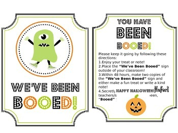 BOO Game!  Fun for Teachers!